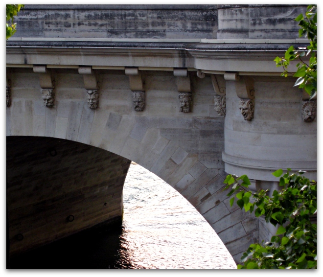 Grotesques on the cornices of the Pont Neuf