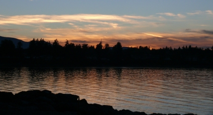 Sunset at Parksville Beach