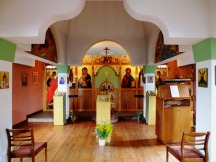 inside the Orthodox Church of the Holy Transfiguration