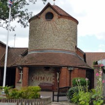 RC-church built in the Norfolk round tower style