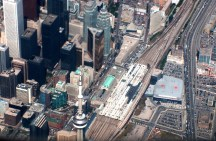 Toronto's CN Tower from the air