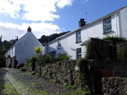 Whitewashed cottages Newlyn