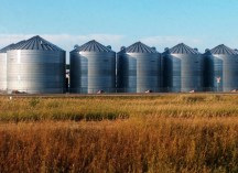 Grain silos in the Prairies
