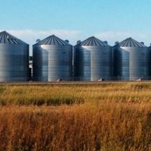 Grain silos in the Prairies