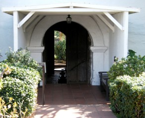 Entrance to the Church from the Meditation Garden