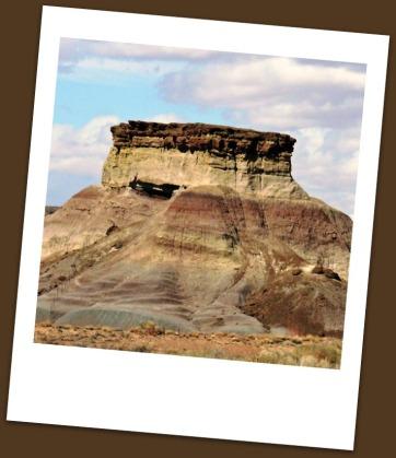 Butte in the desert
