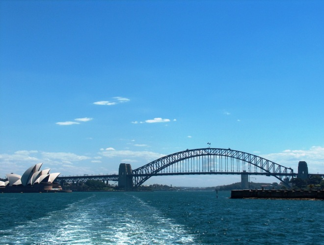 Harbour Bridge and Opera House from the Manly Ferry