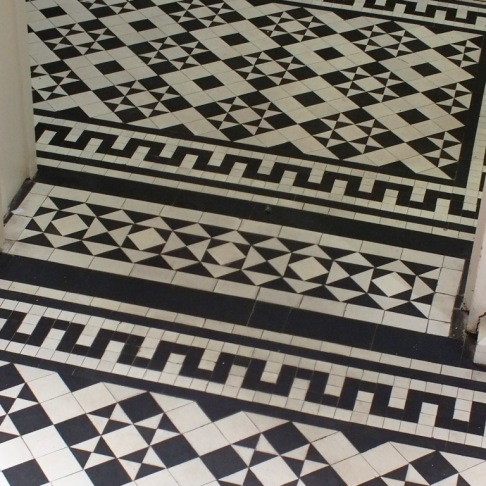 the pump rooms tiled floor
