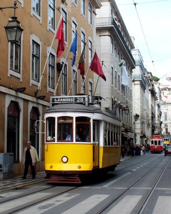 yellow - Lisbon tram