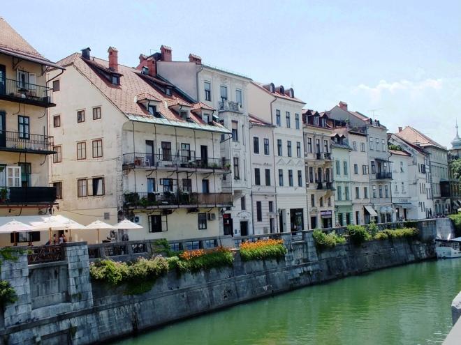 along the Ljubljanica