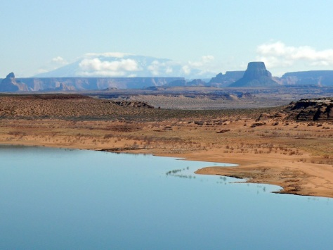 Lake Powell with Navajo Mountain in the background