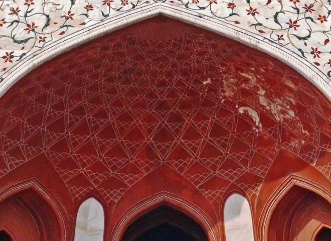 Incised Geometric Painting