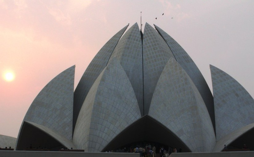 L for Lotus Temple