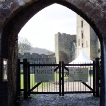 And a quick peek through the gates.