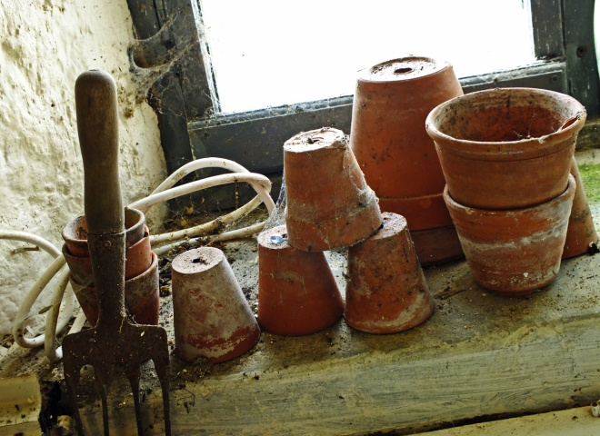 Pots in the potting shed