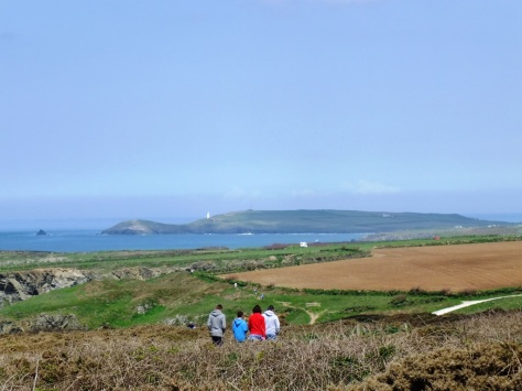 Trevose Head in the distance