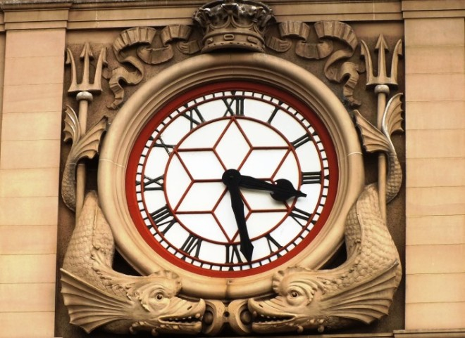 Clock on the Customs House
