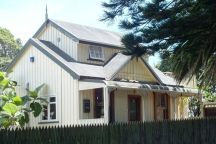 Typical weatherboard house