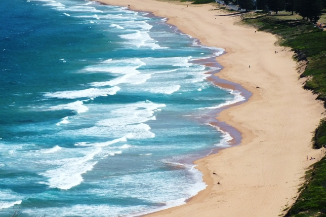 Palm Beach from above
