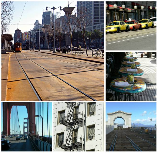 san fran lines collage