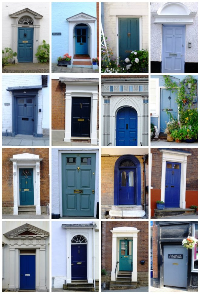 blue door collage (U)