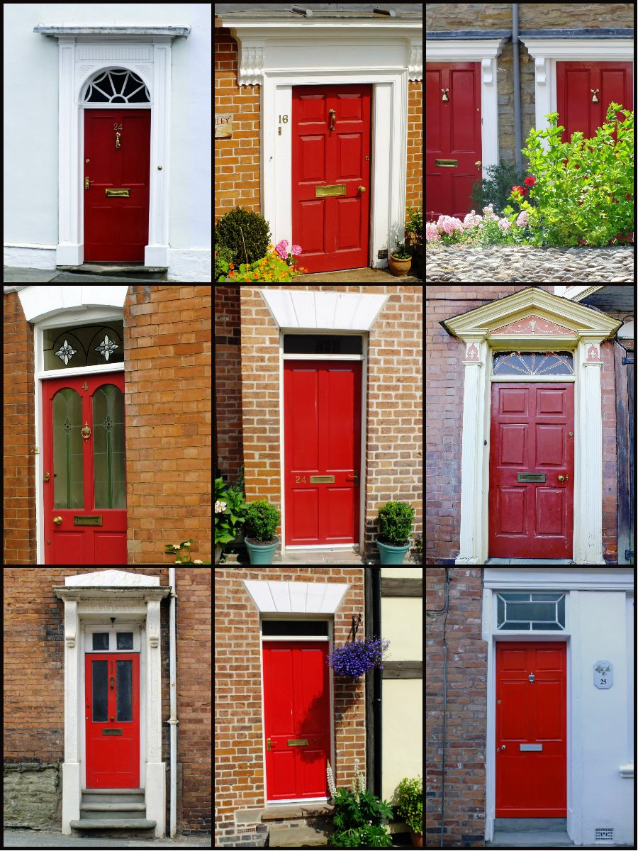Doors portals travel words Best red for front door