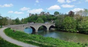 Dinham bridge and Ludlow Castle (May)