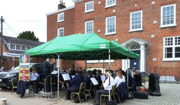 Fringe band in Castle Square