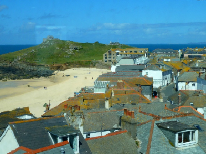 Porthmeor Beach and St Nicholas Chapel