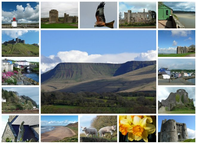 collage for St David's Day