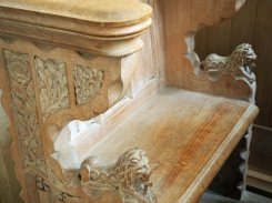 Stall from St Peter's church, Birch