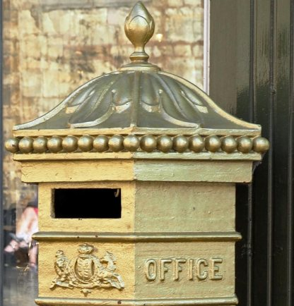 Gold Post Box Lincoln