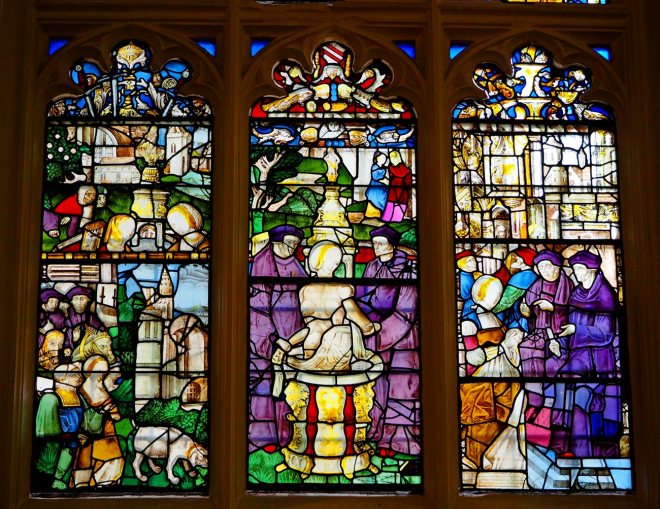Susanna Window tells the story of Susanna and the Elders from Apocrypha