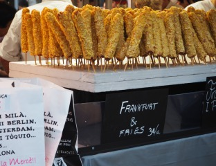 Fast food on a stick