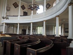 Pews and upper gallery