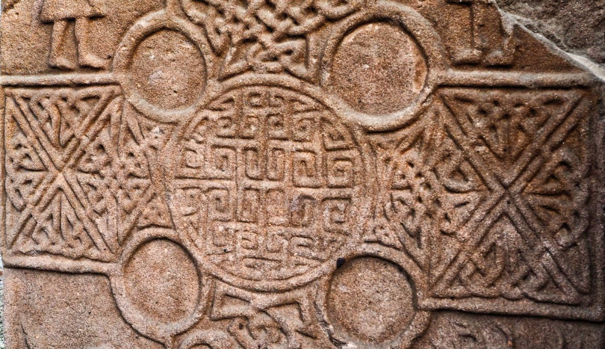 Eassie Old Church Pictish Stone Travel Words