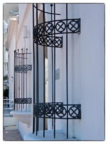 Curved window grills