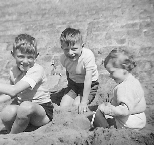 Geoffrey, Michael and Judith Blackpool 1955